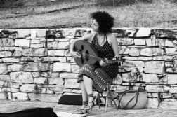 Street musician near the Acropolis.